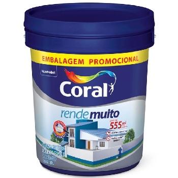 Tinta Acrílica 20 Litros Fosca Rende Muito Branco - Ref.5266120 - CORAL