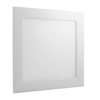 Plafon de Alumínio LED 18w 22cm Embutido Quadrado Slim Branco - Ref. RL22186BC - BRONZEARTE