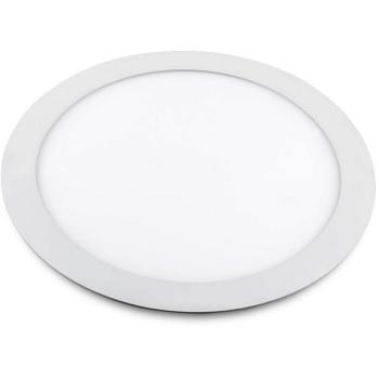 Plafon DE Alumínio LED 18w 22cm Embutido Redondo Slim Branco - Ref. RL23186BC - BRONZEARTE