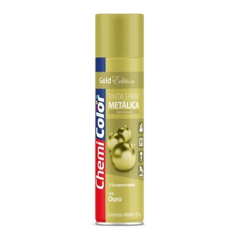 Tinta Spray Metálica 400ml Ouro - Ref. 680105 - CHEMICOLOR