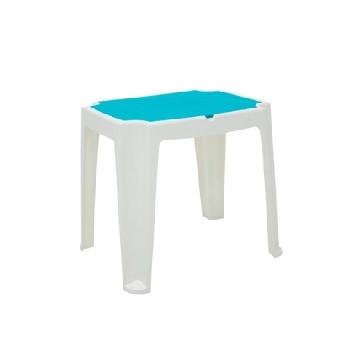 Mesa Plastica Infantil 72x56,5cm Retangular Versa Branca e Azul - Ref. 92340/617 - TRAMONTINA