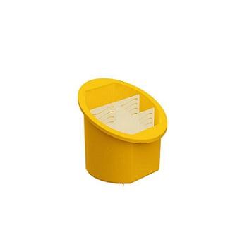 Porta Talher Separador de Plástico Amarelo - Ref.UZ314-AM - UZ