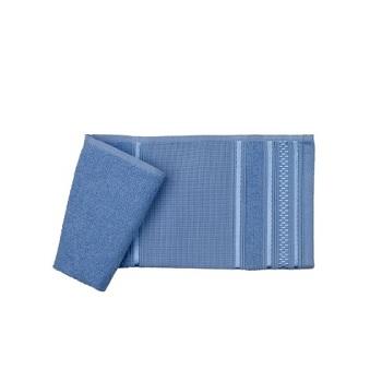 Toalha de Banho em Algodão 70x130cm de Pintar e Bordar Azul Desirée - Ref.SPINTTBAJDSR6238 - SANTISTA
