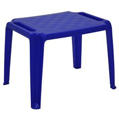 Mesa Infantil Plástica 50x65cm Retangular Dona Chica Azul - Ref.92320/070 - TRAMONTINA