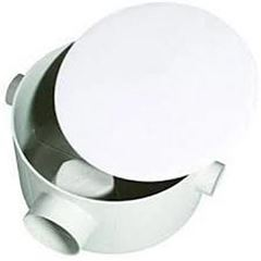 Caixa de Gordura PVC 250x150x50mm Redonda Branca - Ref. 3346 - LUCONI