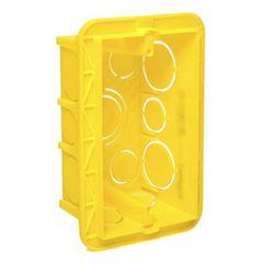 Caixa Luz PVC 4x2 Retangular Amarela - Ref. 689034 - PIAL