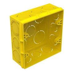 Caixa Luz PVC 4x4 Quadrada Amarela - Ref. 689035 - PIAL