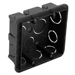 Caixa Luz PVC 4x4 Quadrada Preta - Ref. 689045 - PIAL