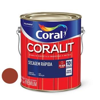 Tinta Esmalte Brilhante Coralit Secagem Rápida Colorado 3,6 Litros - Ref. 5202975 - CORA