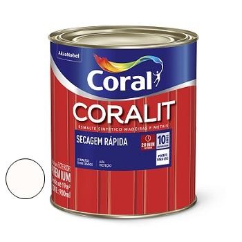Tinta Esmalte Brilhante Coralit Secagem Rápida Branco 900ml - Ref. 5202922 - CORAL