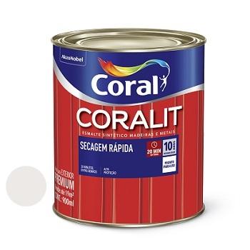 Tinta Esmalte Brilhante Coralit Secagem Rápida Branco Gelo 900ml - Ref. 5202925 - CORAL