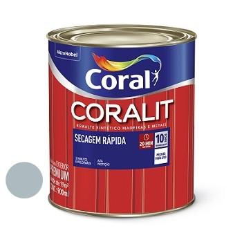 Tinta Esmalte Brilhante Coralit Secagem Rápida Cinza Médio 900ml - Ref. 5202935 - CORAL