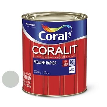 Tinta Esmalte Brilhante Coralit Secagem Rápida Platina 900ml - Ref. 5202937 - CORAL