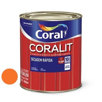 Tinta Esmalte Brilhante Coralit Secagem Rápida Laranja 900ml - Ref. 5202953 - CORAL