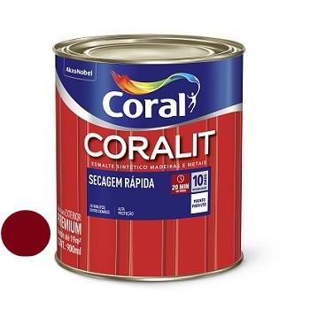 Tinta Esmalte Brilhante Coralit Secagem Rápida Vermelho Goya 900ml - Ref. 5202957 - CORAL