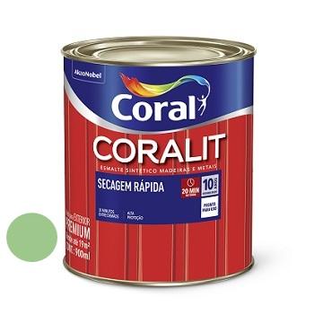 Tinta Esmalte Brilhante Coralit Secagem Rápida Verde Limão 900ml - Ref. 5202962 - CORAL
