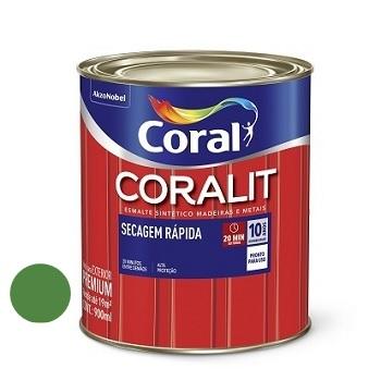 Tinta Esmalte Brilhante Coralit Secagem Rápida Verde Folha 900ml - Ref. 5202964 - CORAL