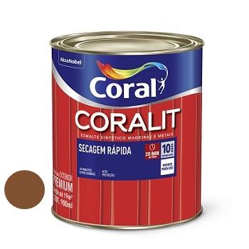 Tinta Esmalte Brilhante Coralit Secagem Rápida Tabaco 900ml - Ref. 5202978 - CORAL