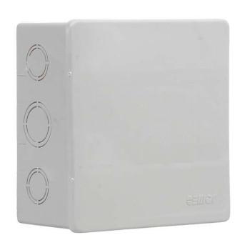 Caixa Passagem PVC 120x120x75 CPS12 Sobrepor Cinza - Ref.913204 - CEMAR