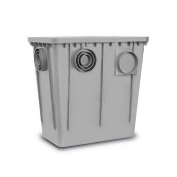 Caixa Gordura PVC 520X330X510mm Cesta Tampa - Ref.6090-3 - PINCEIS ROMA