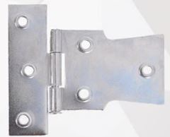 Dobradiça Aço 2.1/2 Par Cruz Zincado Azul - Ref.4026 - METALVI