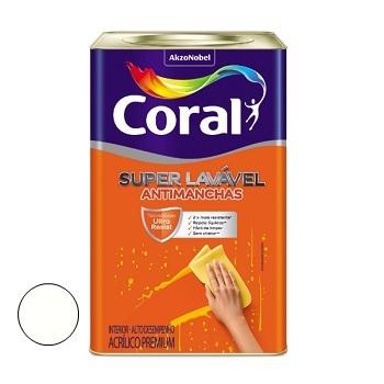 Tinta Acrílica Super Lavável Branco 18 Litros - Ref. 5273334 - CORAL