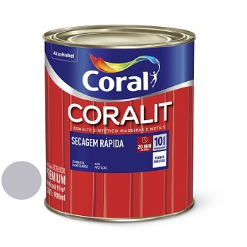 Tinta Esmalte Brilhante Coralit Secagem Rápida Alumínio 900ml - Ref. 5274049 - CORAL