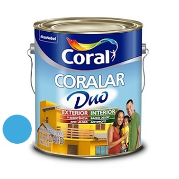 Tinta Acrílica Fosca Coralar Duo Oceano 3,6L - Ref. 5271595 - CORAL