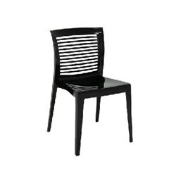 Cadeira Plastica Victoria Preta Encosto Horizontal - Ref.92041/009  - TRAMONTINA