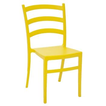 Cadeira Plástica Nádia Amarela - Ref.92034/000 - TRAMONTINA
