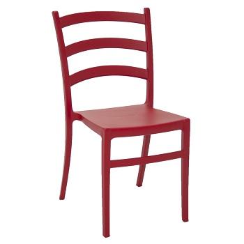 Cadeira Plástica Nádia Vermelha - Ref.92034/040 - TRAMONTINA