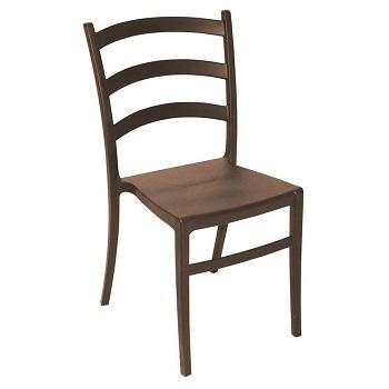 Cadeira Plástica Nádia Marrom - Ref.92034/109 - TRAMONTINA