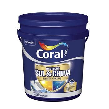Impermeabilizante Acrílico Manta Liquida Sol & Chuva 12kg - Ref. 5269636 - CORAL