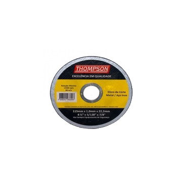 Disco Corte 4.1/2 Inox - Ref. 882 - THOMPSON