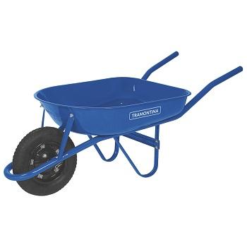 Carro de Mão Aço Braço Metálico Pneu/Câmara Azul - Ref.77704/432 - TRAMONTINA