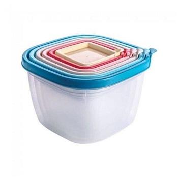 Kit pote plástico com 6 Peças Conect Quadrado - Ref. 008075 - PLASUTIL