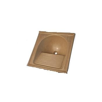 Tanque de Granito Sintético 60x60cm Simples Bege Travertino - Ref.7898591791703 - BELLA PIA