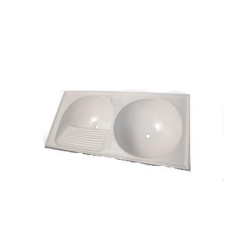Tanque Sintetico 105x50cm Circular Branco Liso - Ref. 7898591790720 - BELLA PIA