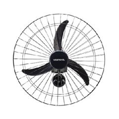 Ventilador de Parede 60cm 200w Bivolt Oscilante Premium Preto - Ref.82 - VENTISOL