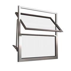 Basculante Alumínio 60x40 2 Folhas Vidro Canelado JBBCC002 Branco - Ref. ELB001003 - QUALITY