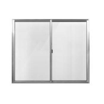 Janela Alumínio 50x50 2 Folhas Vidro Canelado JCBCC012 Branca - Ref. ELB003012 - QUALITY