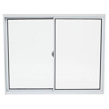 Janela de Alumínio 2 Folhas Vidro Canelado 150x100cm Branco JCBCC004 - Ref.ELB003004 - QUALITY