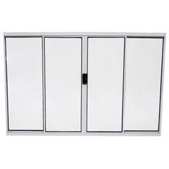 Janela de Alumínio 4 Folhas Vidro Canelado 150x100cm Branco JCBCC005 - Ref.ELB003005 - QUALITY