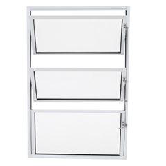 Basculante de Alumínio 2 Sessões Vidro Liso 60x60cm Branco JBBCL006 - Ref.ELB002013 - QUALITY
