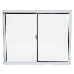 Janela de Alumínio 2 Folhas Vidro Liso 50x50cm Branco JCBCL012 - Ref.ELB004012 - QUALITY