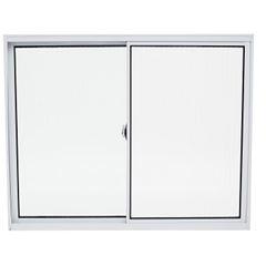 Janela de Alumínio 2 Folhas Vidro Liso 120x100cm Branco JCBCL003 - Ref.ELB004001 - QUALITY