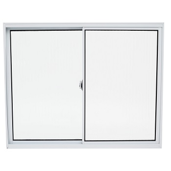 Janela de Alumínio 2 Folhas Vidro Liso 150x100cm Branco JCBCL004 - Ref.ELB004013 - QUALITY
