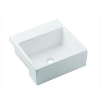 Cuba de Semi-Encaixe Quadrada 41cm Basic Branco - Ref.1730250013300 - CELITE