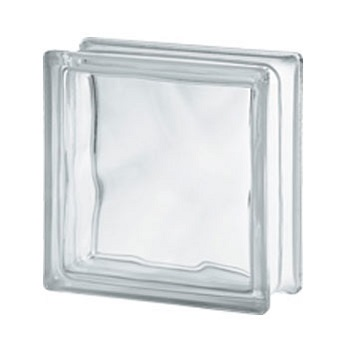Bloco Vidro 19x19x8 Clear Wave - Ref.123661 - SEVES GLASS BLOCK