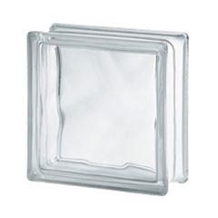 Bloco de Vidro 19x19x8cm Clear Wave - Ref.123661 - SEVES